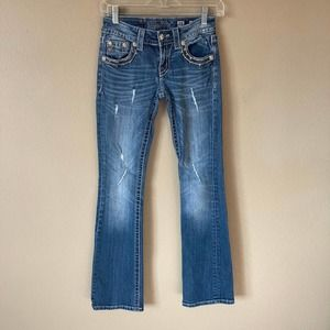 Buckle Miss Me Bootcut Jeans Distressed Bling 25
